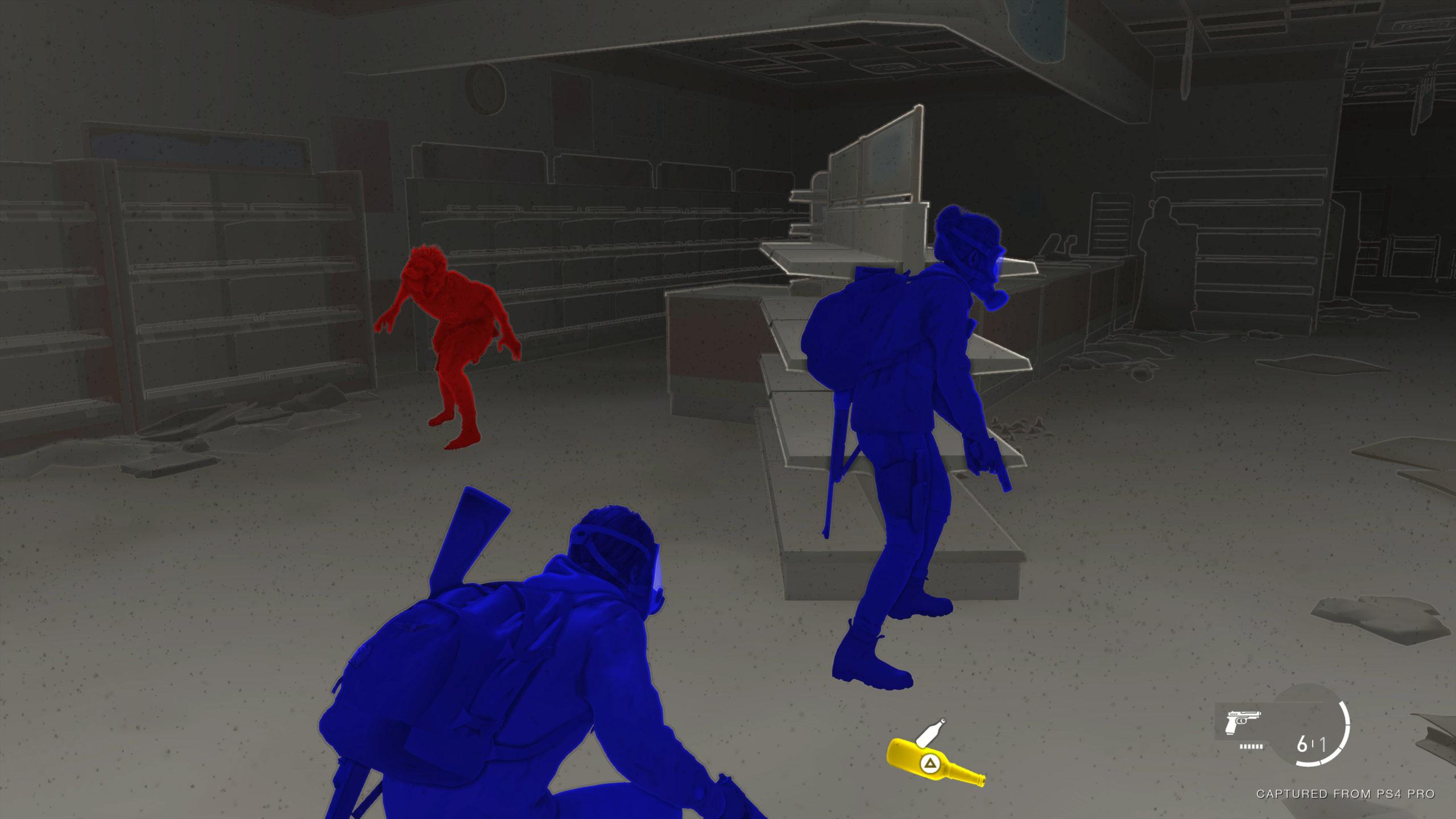 Veränderung des Farbkontrast der Barrierefreiheit in The Last of Us 2